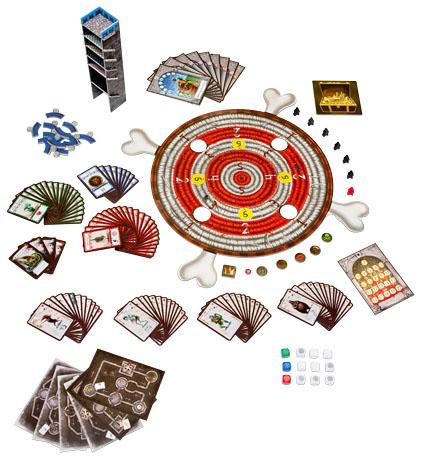 Componentes de la edición de Edge entertaiment de Dungeon Fighter