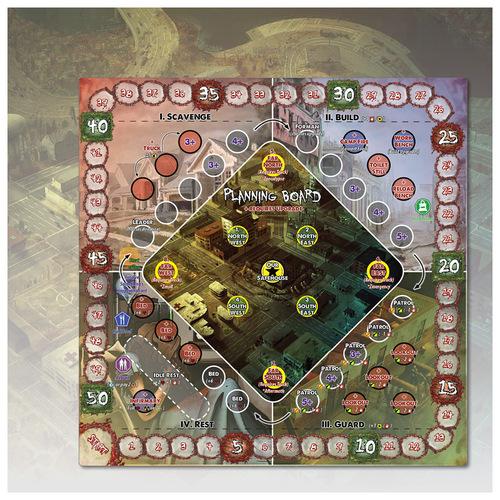 tablero de planificación de Zpocalypse 2: Defend the Burb