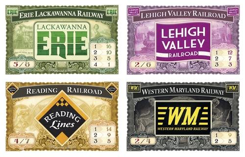 Cartas de acciones ferroviarias de aventureros al tren Reino unido