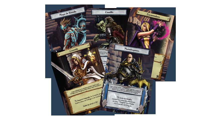 Cartas del juego de mesa Dungeon Roll