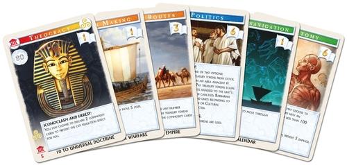 Ejemplo de las cartas de Mega Civilization