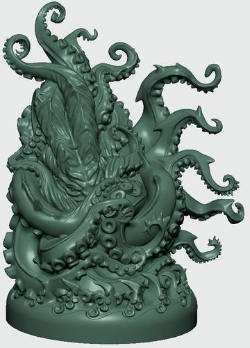 Render de la miniatura del Kraken de Abyss Kraken