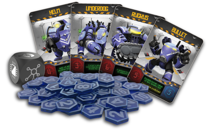 Componentes del jeugo Bots Battleground