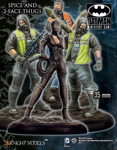 Spice y matones de dos caras para Batman miniature game
