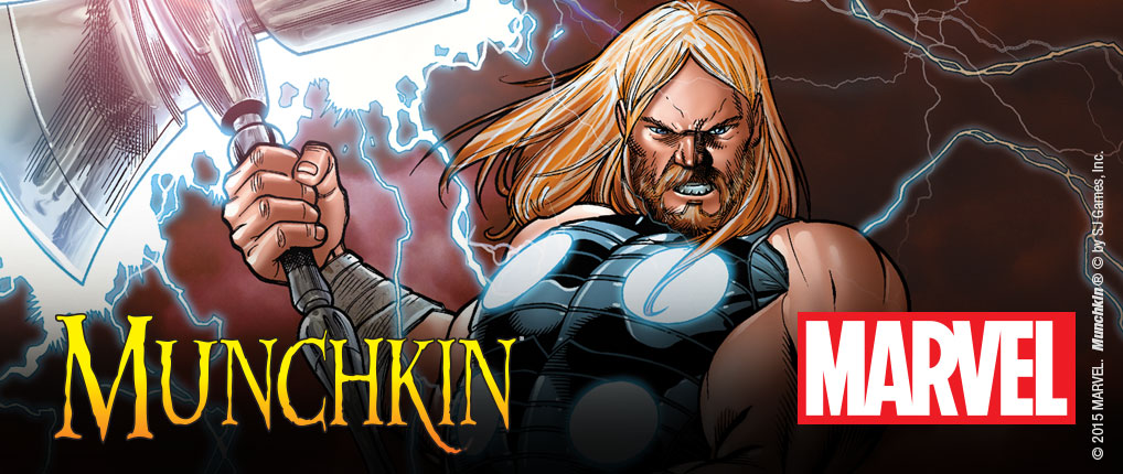Arte Munchkin basado en Marvel