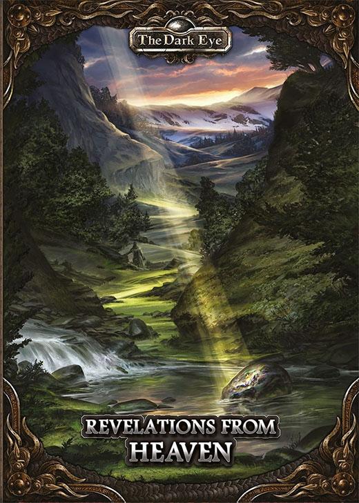 Portada de la edición en inglés de revelation from heaven de Das Schwarze Auge