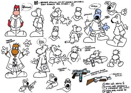 Personajes de Fanhunter