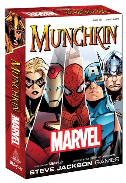 Caja de Munchkin basado en Marvel