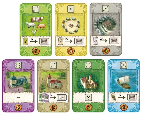 Cartas de The Castles of Burgundy : The Card Game