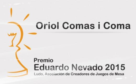 Galardon Eduardo Nevado de 2015 a Oriol Comas I Coma