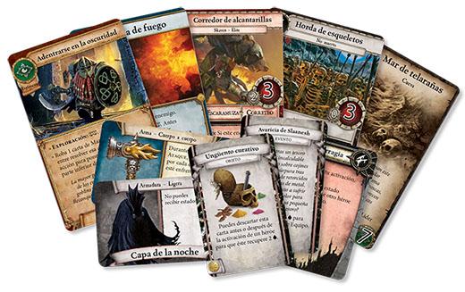 Cartas de Warhammer Quest el juego de cartas de aventuras