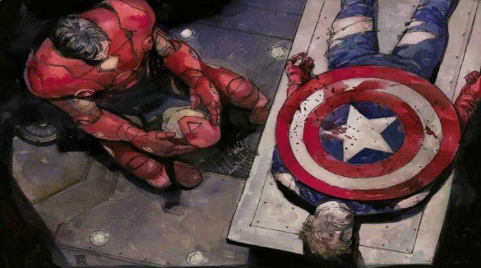 Capitan Ámerica muerto junto a Iron Man