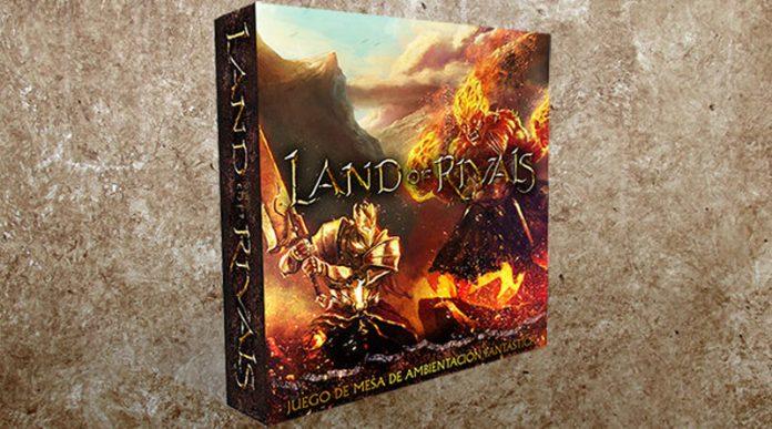 Infografia de la caja de land of rivals