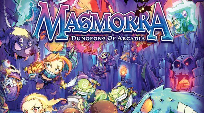 Fragmento de la portada de Masmorra Dungeons of arcadia