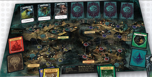 Componentes de Pandemic Reign of Cthulhu