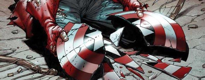Escudo de Capitán América roti