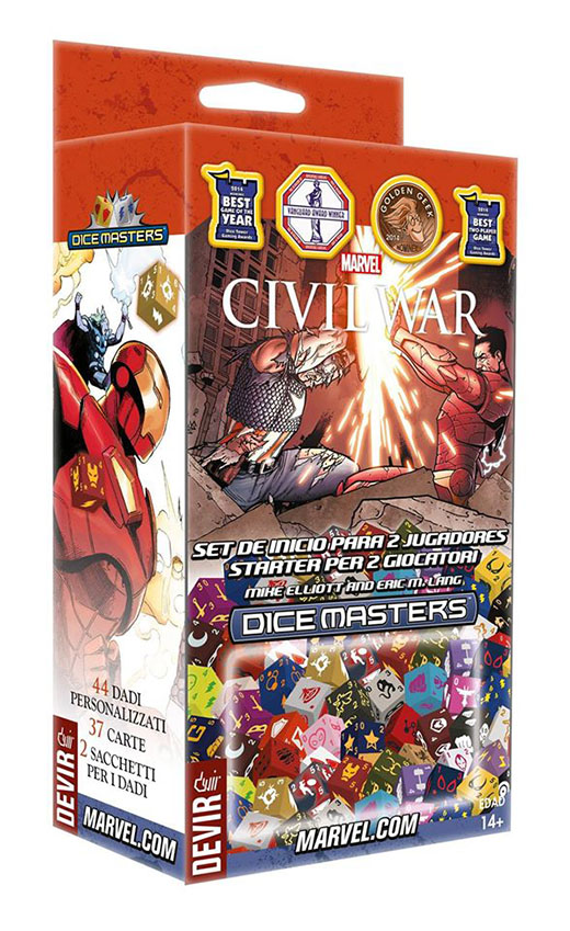 Set para 2 jugadores de dice master civil war