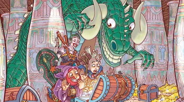 Arte grafico de dragones y gallinas
