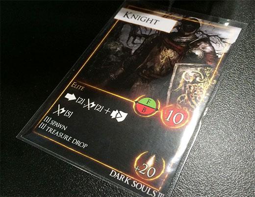 Carta de enemigo de Dark Souls El juego de mesa