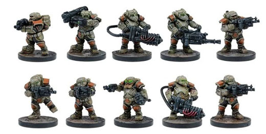 Miniaturas de los Stalwart de deadzone 2nd edition