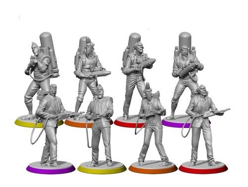 Miniaturas de Ghostbuster the boardgame 2