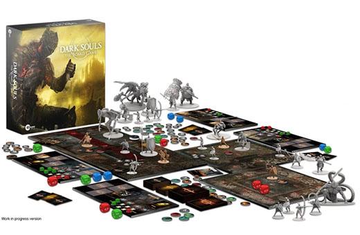 Componentes del juego de mesa Dark Souls