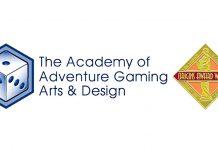 Logotipo de la AAGAD que concede los Origins Award