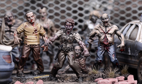 miniaturas de The walking dead All Out War