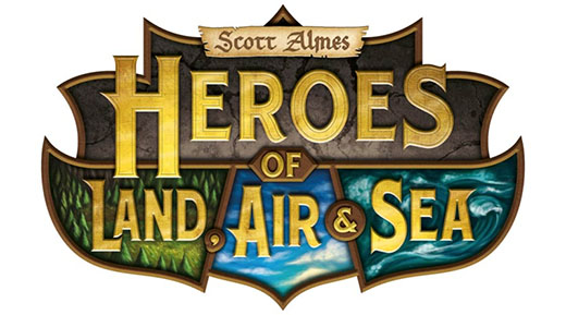 Logotipo de heroes of land air and sea