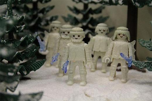 los caminantes blancos de juego de tronos en playmobil