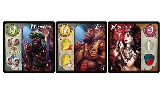 Algunas cartas de Five Tribes The Thieves of Naqala