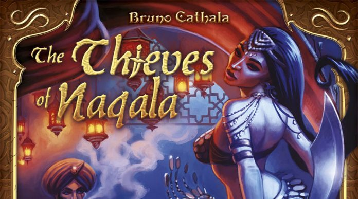 Fragmento de la portada de Five Tribes The Thieves of Naqala