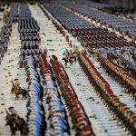 Diorama de la batalla de Zama fabricado con muñecos Playmovil