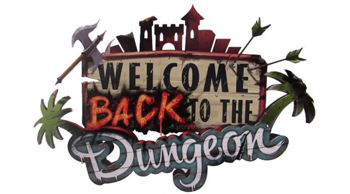 Logotipo de welcome back to the dungeon