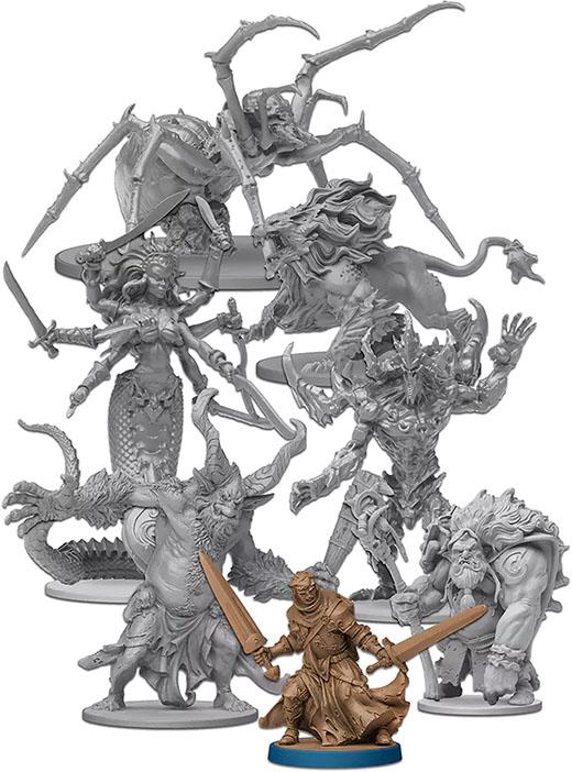 Monstruos gigantes de Massive Darkness