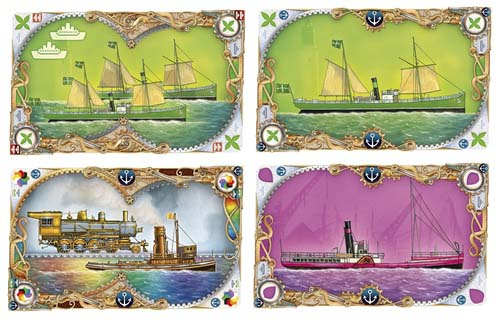 Cartas de barcos de Ticket to Ride Rails and Sails