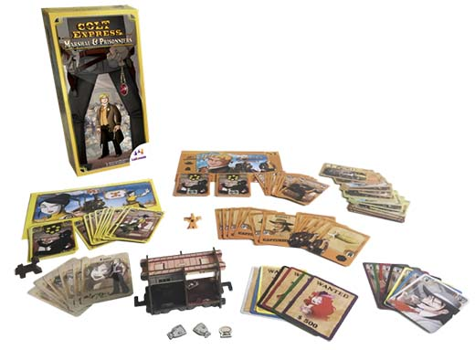 Componentes de Colt Express: Marshal and Prisoner de Asmodee