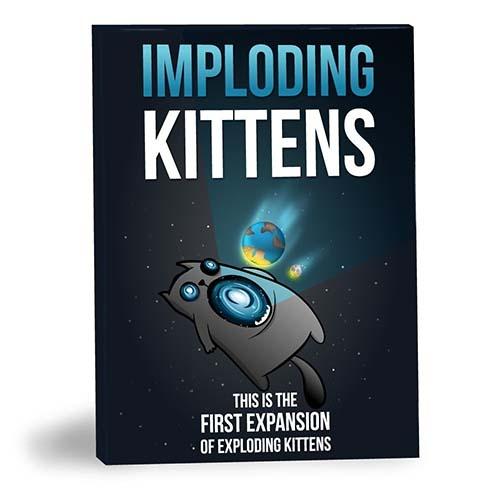 Portada de imploding kittens, expansión de exploding kittens