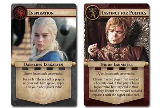 cartas de personaje de juego de tronos: el trono de hierro