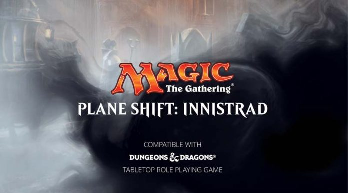 logotipo de planeshift: innistrad, ambientación para D&D de Magic the gathering