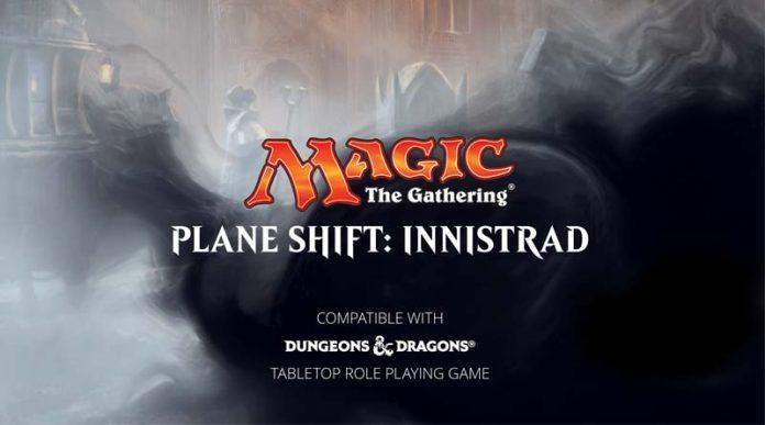 logotipo de planeshift: innistrad, ambientación para D&D de Magic the gathering