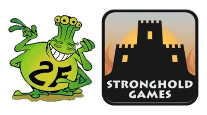 Logotipos de de Stronghold games y 2F-Spiele