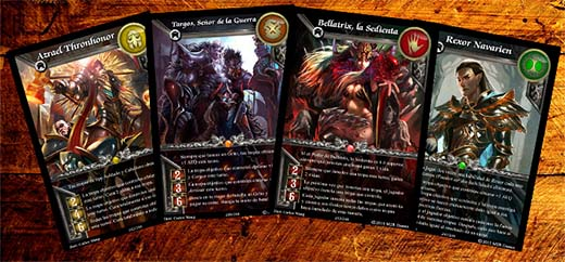 cartas de héroes de warlords of terra