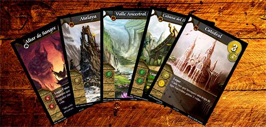 cartas de lugares de warlords of terra
