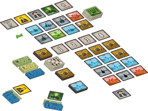 Componentes de power grid the card game
