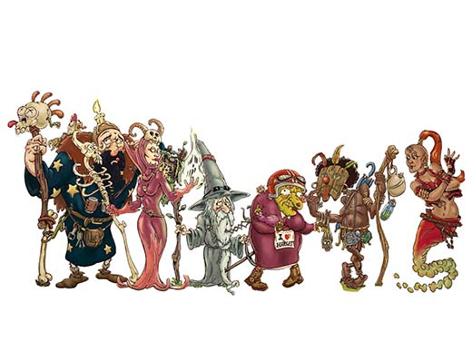 Personajes de Abrakarun