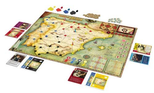 Componentes de Pandemic Iberia