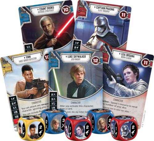 Componentes de Star Wars Destiny