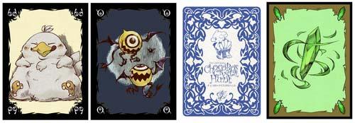 cartas de Chocobo Crystal hunt
