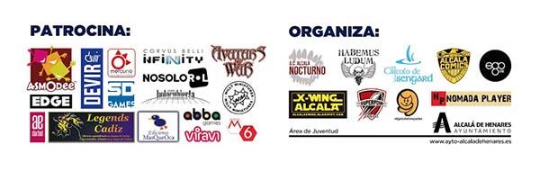 Patrocinadores y organizadores de las jornadas de juegos de mesa Juegos y Quebrantos